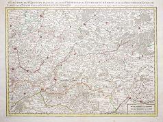Carte géographique ancienne d'Amiens - Laon - Noyon - Soissons