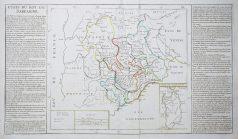 Carte géographique ancienne des Etats de la Sardaigne - Antique map