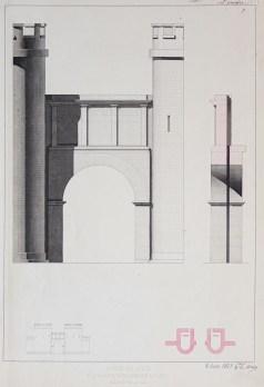 Gravure ancienne de la Porte de Nîmes