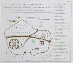 Plan ancien de la ville de Jérusalem