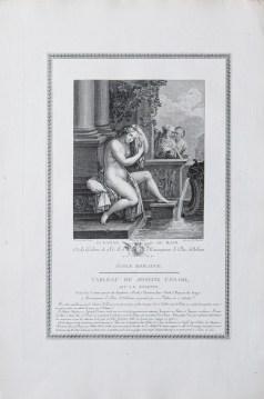Gravure ancienne - Susanne au bain