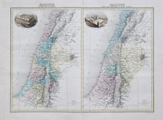 Carte géographique ancienne de la Palestine