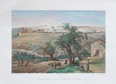 Gravure ancienne de Jérusalem