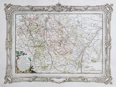 Carte géographique ancienne de la Lorraine