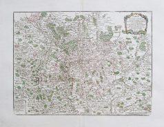 Carte géographique ancienne du Pays Messin