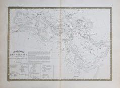 Carte géographique ancienne du Monde des Hébreux