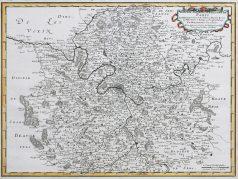 Carte géographique ancienne de l'Île de France