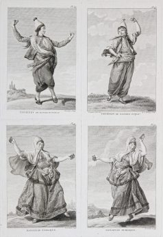 Gravure ancienne - costumes turques