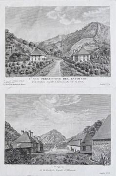 Gravure ancienne d'Allemont