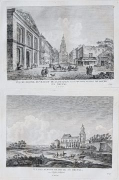 Gravure ancienne de Bourg en Bresse