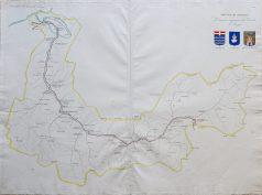 Carte géographique ancienne du Comté de Maurienne