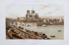 Gravure ancienne de Notre-Dame