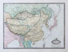 Carte géographique ancienne de la Chine et du Japon