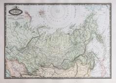 Carte géographique ancienne de la Sibérie