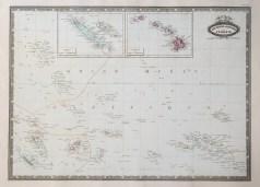 Carte géographique ancienne de l'Océanie
