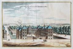 Gravure ancienne du Château de Coulommiers en Brie