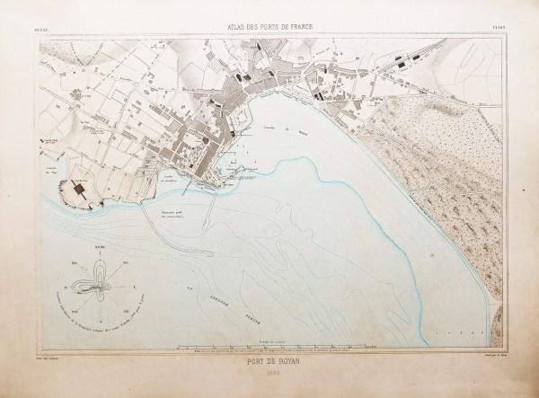 Carte marine ancienne du port de Royan