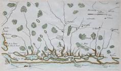 Carte marine ancienne de Mimizan