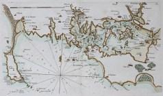 Carte marine ancienne du Golfe du Morbihan