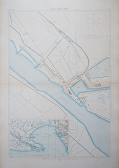 Carte marine ancienne de Saint-Louis du Rhône