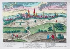 Gravure ancienne de Moulins