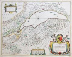 Carte géographique ancienne du Lac Léman