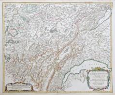 Carte géographique ancienne de la Bourgogne