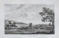 Gravure ancienne de l'aqueduc d'Arcueil