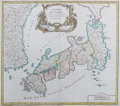 Carte géographique ancienne de l'Empire du Japon