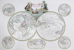 Carte géographique - Mappemonde ancienne