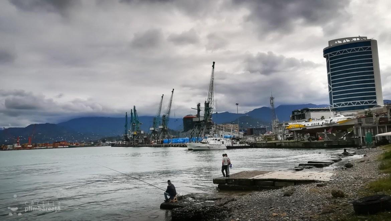 Zona portului in dreptul statiei de plecare a telegondolei Argo