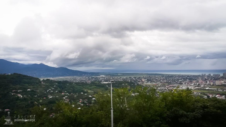 Asa se vede Batumi din puctul de belvedere Argo