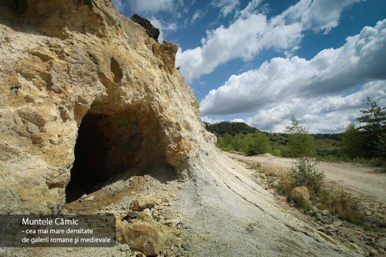 Muntele Carnic, cea mai mare densitate de galerii romane si medievale