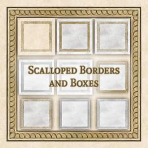 Scalloped Frames and Boxes