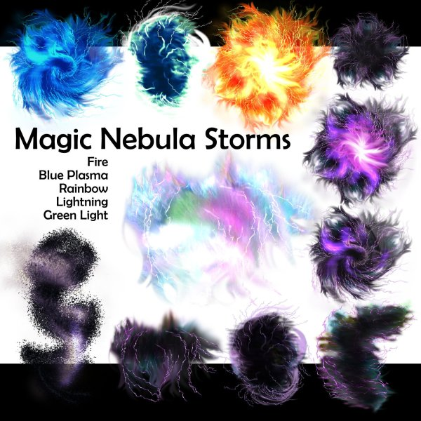 Magic Lighting Storms and Nebulas VTT magic effects science fiction assets