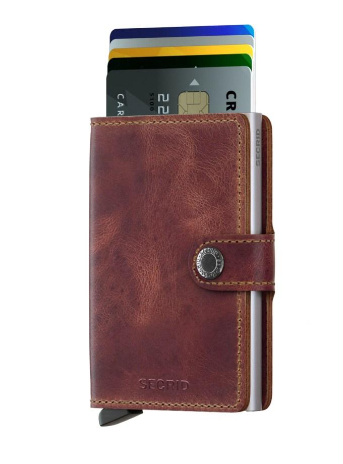 Secrid - Cardprotector - Mini Wallet Vintage - Collezione 2021 - Brown - Cartoleria Rossi Mantova dal 1927