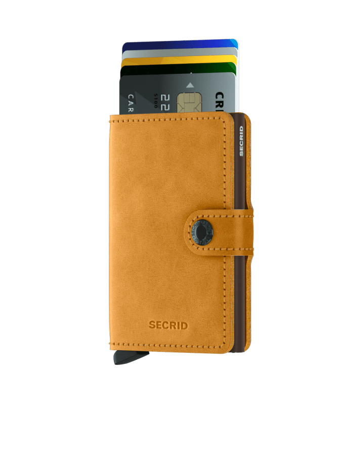 Secrid - Cardprotector - Mini Wallet Vintage - Collezione 2021 - Ocra - Cartoleria Rossi Mantova dal 1927