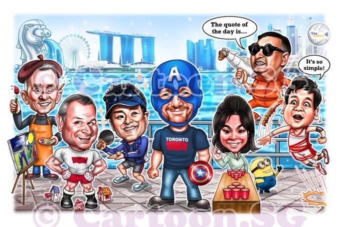 Team caricature