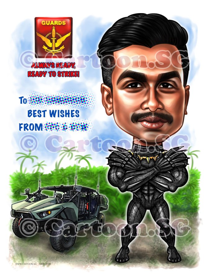 20190514-Caricature-Singapore-digital-SAF-army-vehicle-guards-superhero-marvel-wakanda-forever-black-panther