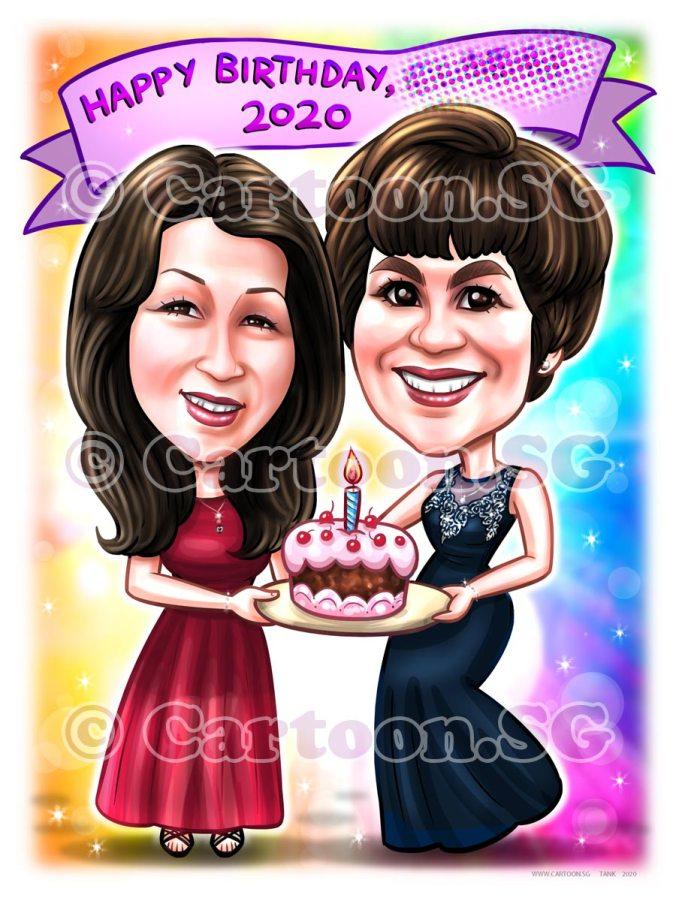 20200722-Caricature-Singapore-digital-bff-friend-birthday