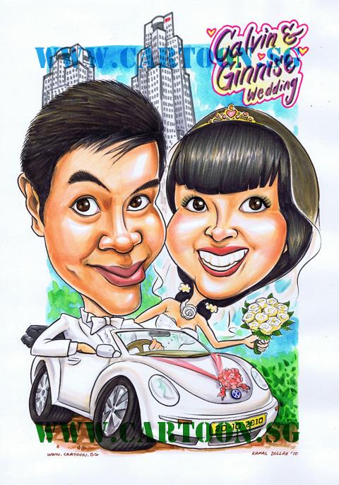20102010 Wedding Bliss Caricature