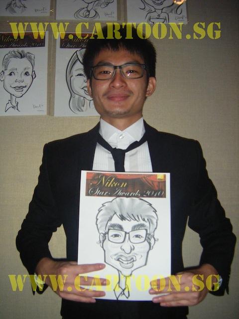 'Live' Drawing Caricature @ MEGU, Singapore Flyer
