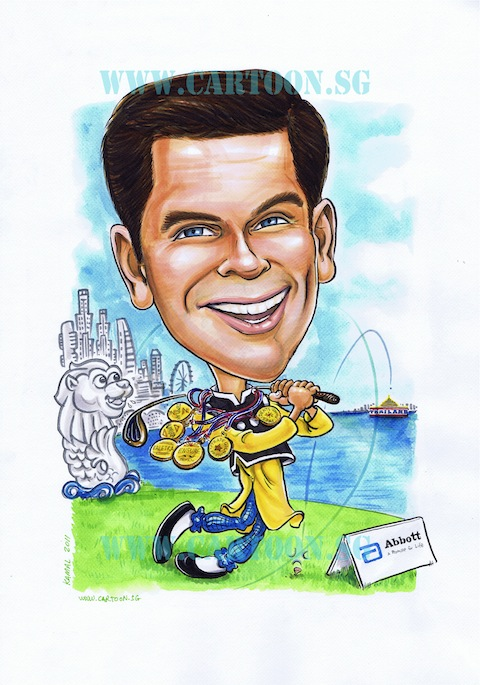 Caricature of Abbot senior staffl done by Kamal Dollah