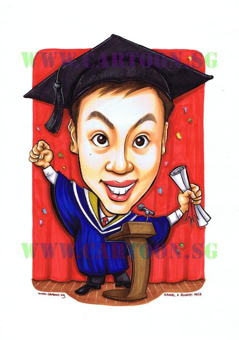 Caricature Gift, University,Cartoon Art