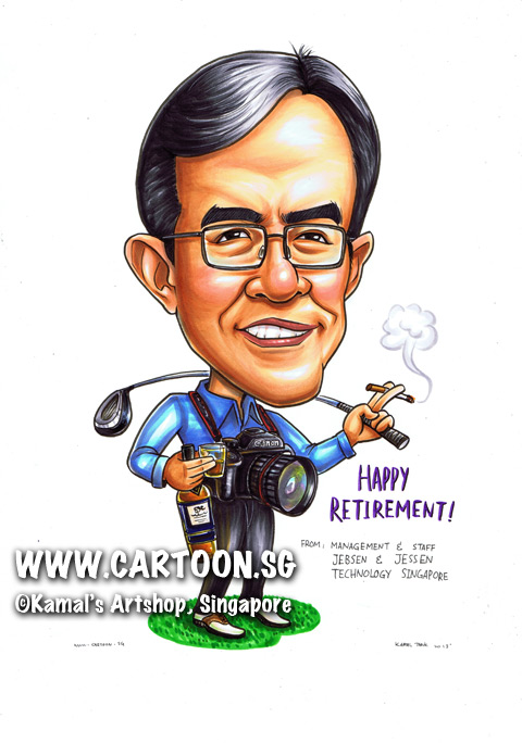 singapore caricature cartoon art drawing fun picture image sketch colour man running run marathon HP billiton sharp calculator shares dividend chart merlion flyer yellow shirt green colour socks buildings building grass patch jogging shoes shorts muscular physically active fit healthy workout working out jogger runner esplanade city marina bay sands grey hair gray white muscles macho