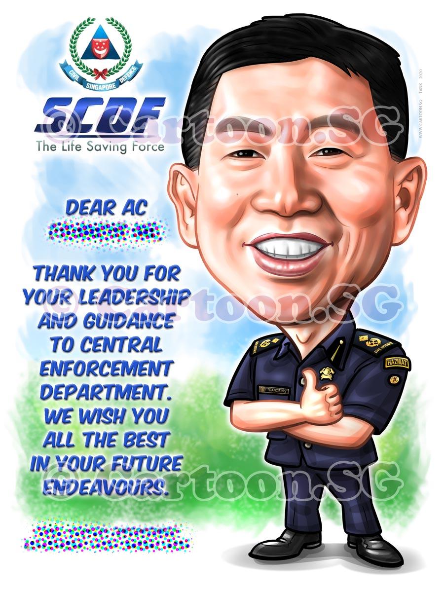 Happy boss in uniform