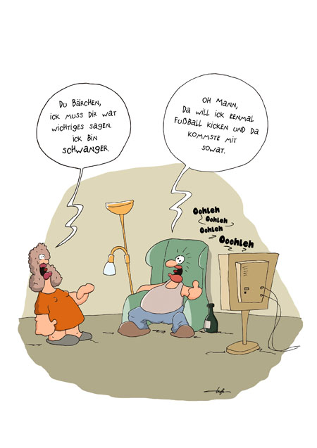Thomas Luft, Cartoon, Lustig, Schwanger