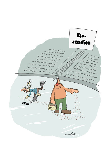 Thomas Luft, Cartoon, Lustig, Streusand