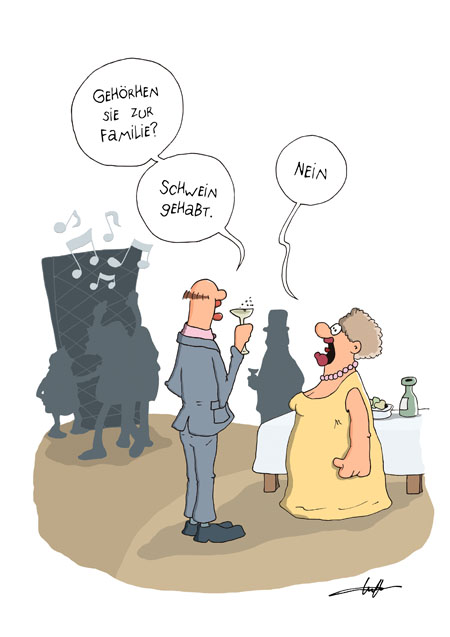 Thomas Luft, Cartoon, Lustig, Familie