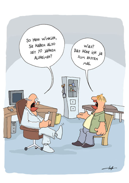 Thomas Luft, Cartoon, Lustig, Alzheimer